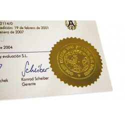 Rollo de etiquetas doradas para sellos en seco
