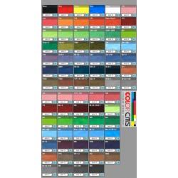 Tinta de colores personalizados