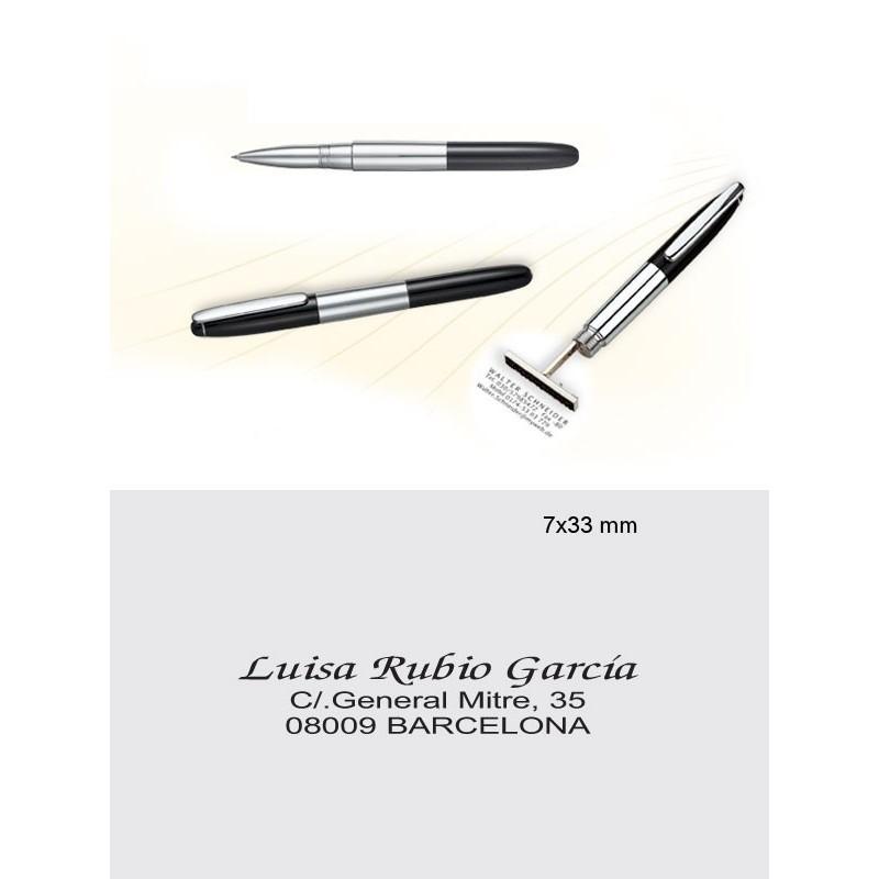 8521 Clásico, metal cromado y lacado negro.