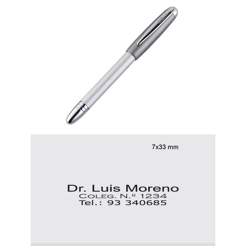 Pen Stamp Alu Magnet, metálico
