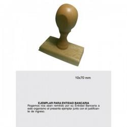 Sello de madera 10x70mm
